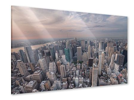 Acrylic Print Skyline View Over Manhattan
