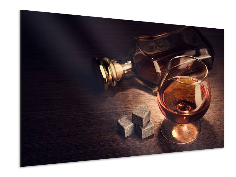 Aluminium Print A Glass Of Cognac