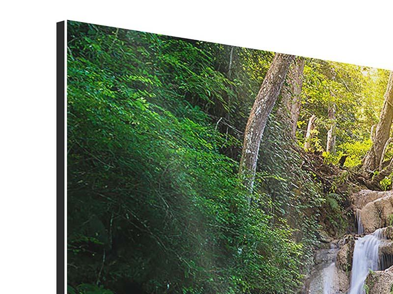 5 Piece Aluminium Print Terrace At The Waterfall