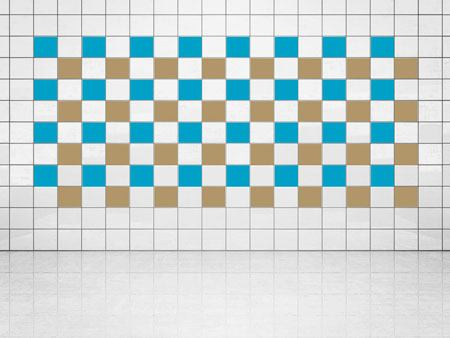 Tile Decor Gold Metallic (A836) and Sky Blue (A784) Set of 20