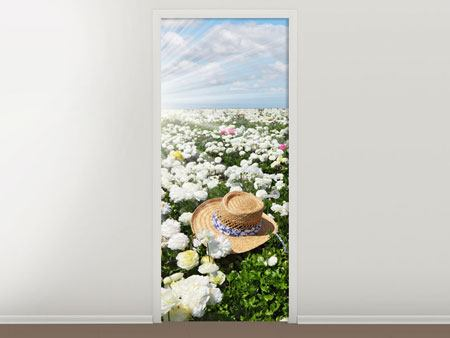 Door Mural Spring Flower Meadow