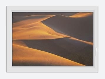 Window Print Desert Sand