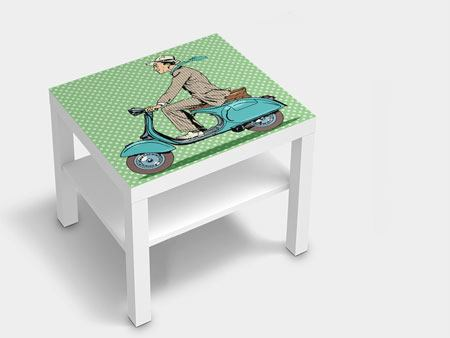 Furniture Foil Pop Art Vespa Driver