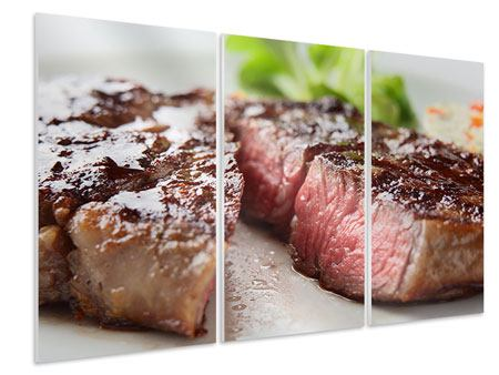 3 Piece Forex Print Perfect Beef Filet