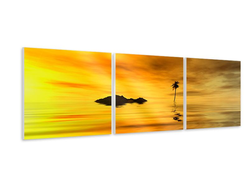 Panoramic 3 Piece Forex Print Ready For Island