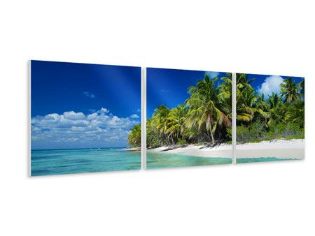 Panoramic 3 Piece Forex Print The Dream Island