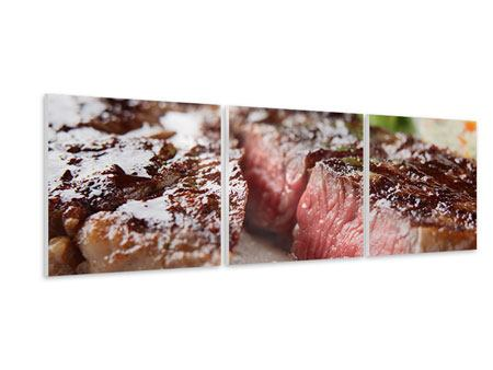 Panoramic 3 Piece Forex Print Perfect Beef Filet