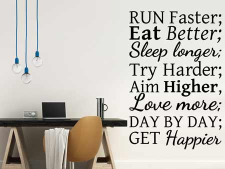 Wall Sticker Recipe For Happiness