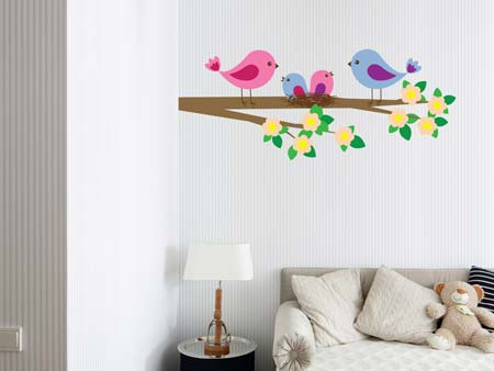 Wall Sticker Sweet Bird Family