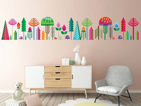 Wall Sticker colorful forest