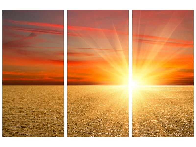 3 Piece Self-Adhesive Poster The Sunset
