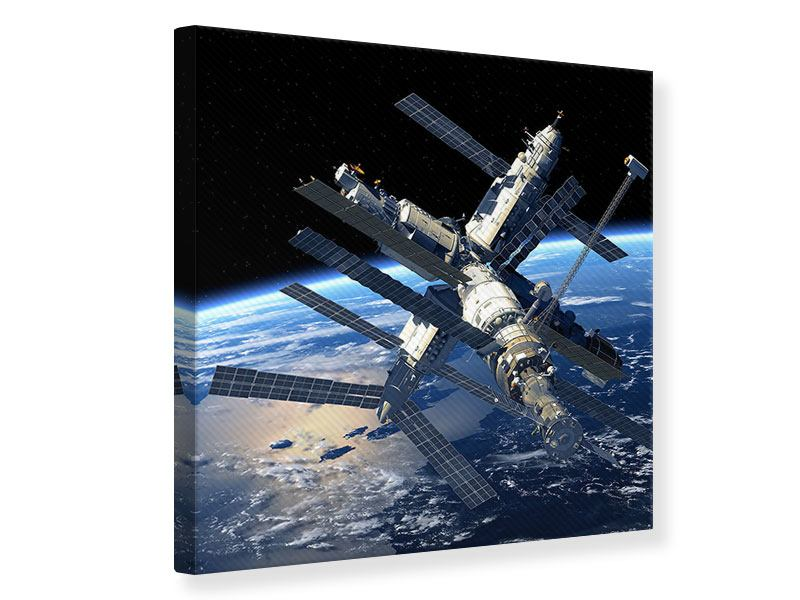 Canvas Print Space Station