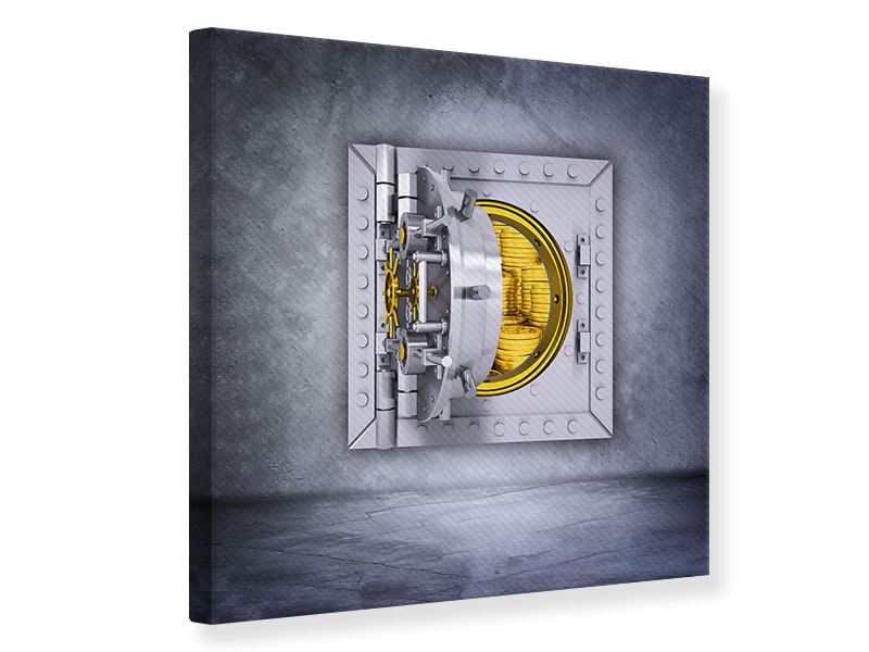 Canvas Print Stuffed Safe