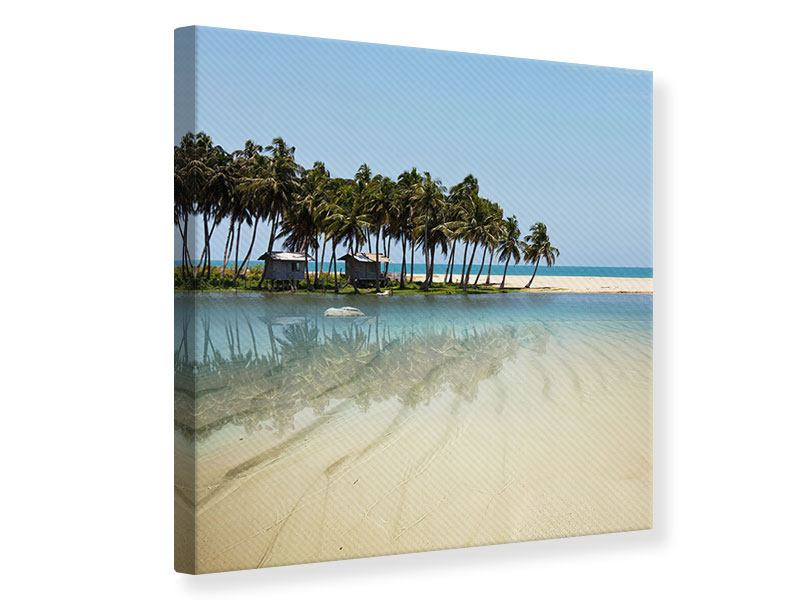 Canvas Print The Sea And The Island