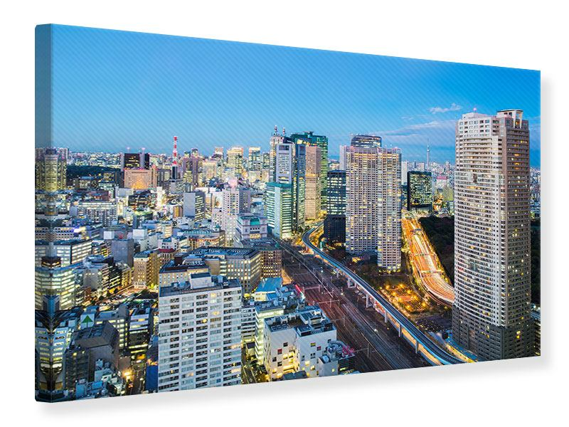 Canvas Print Skyline Tokyo In Sea Of Light