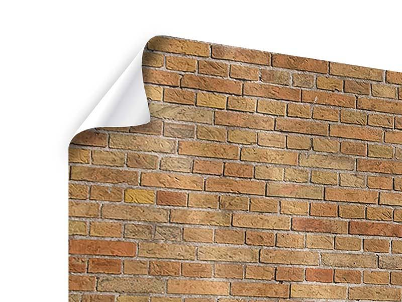 Panoramic 3 Piece Poster Brick Background
