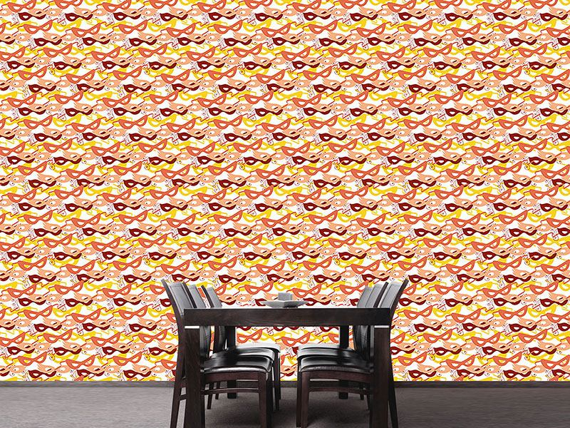 Design Wallpaper Carnival Masks