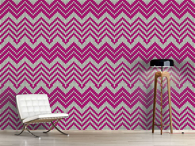 Design Wallpaper Dot Chevron