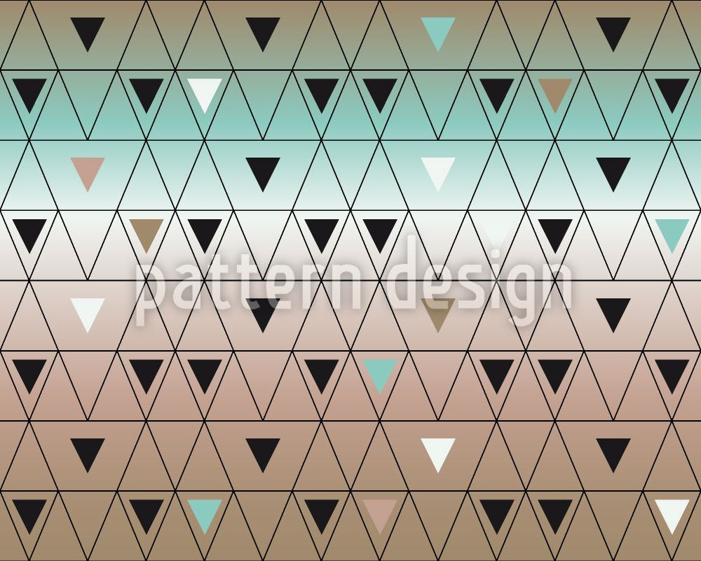 Papier peint design Different Sized Triangles