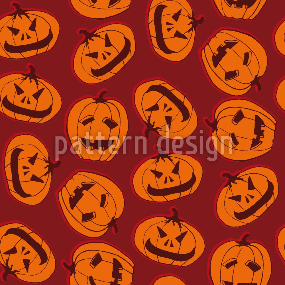 Papier peint design Pumpkin Heads Brown