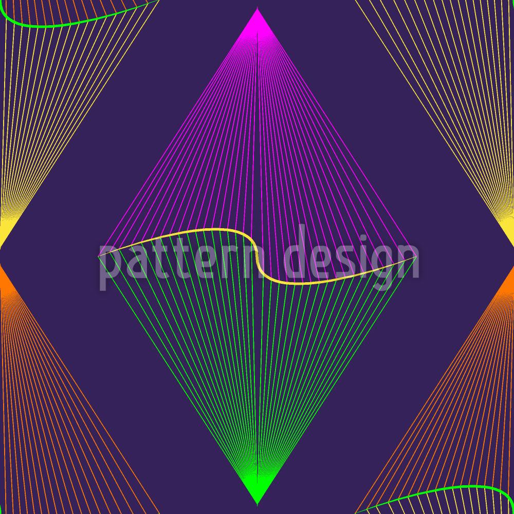 Papier peint design Purple Lanterns