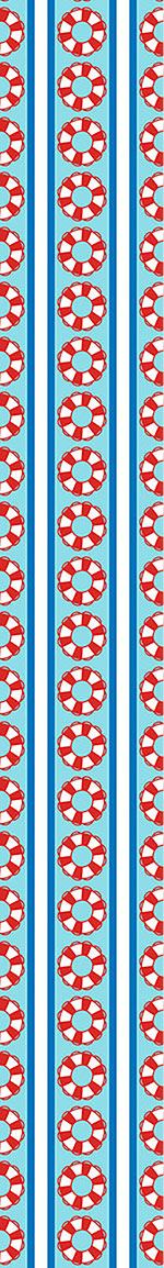 Papel tapiz de diseño Rescue Rings On Stripes