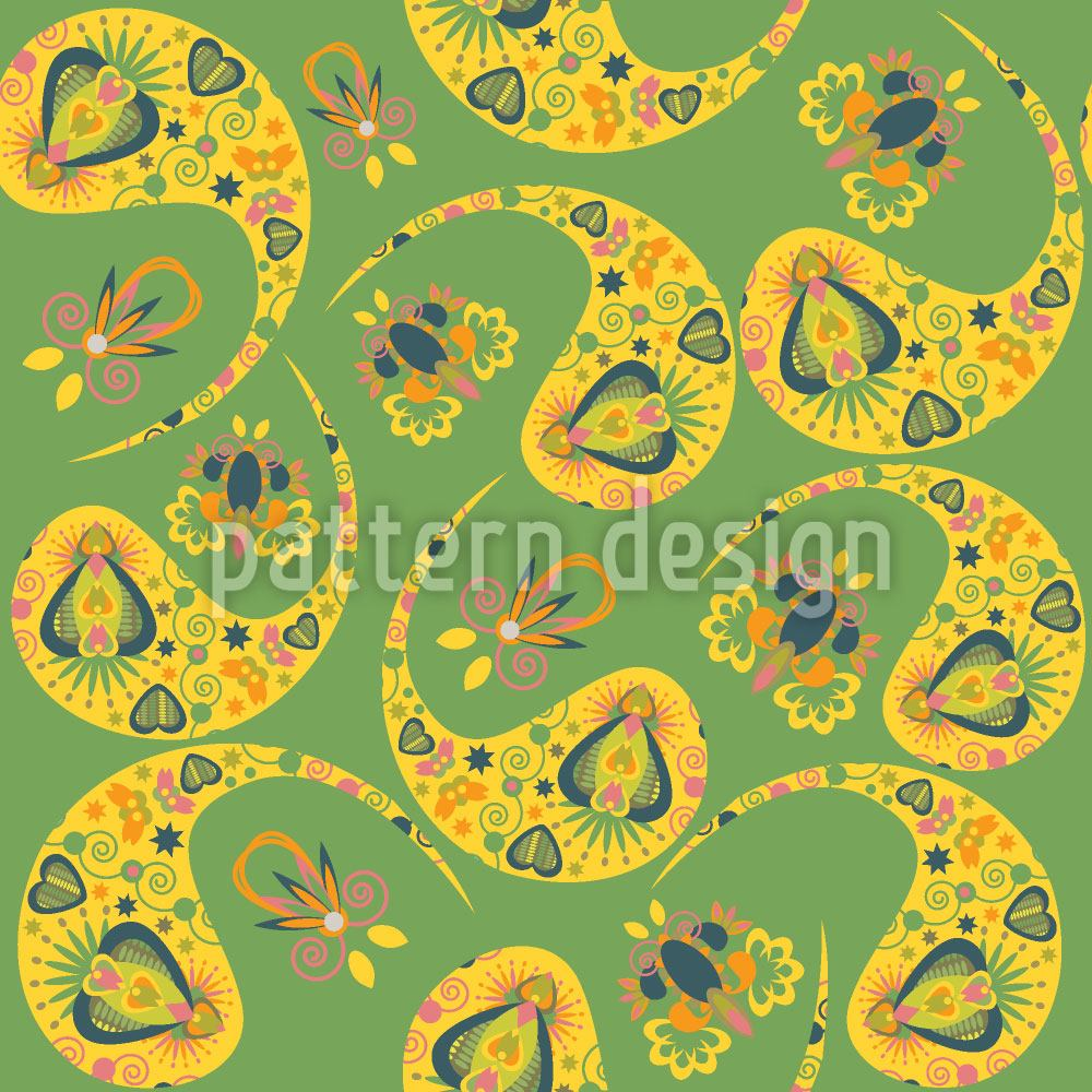 Papier peint design Paisley In The Spring