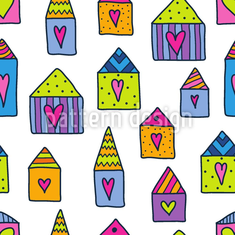 Papier peint design Lovely Houses
