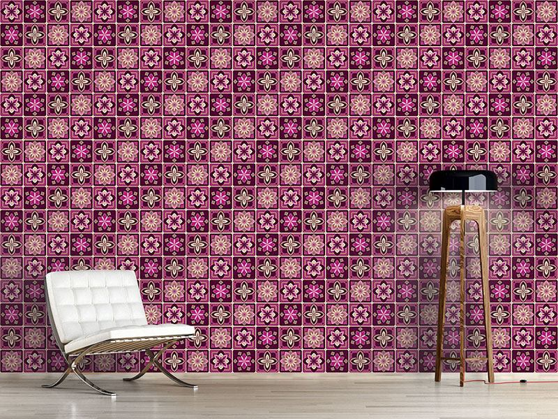 Design Wallpaper Lotus Tiles