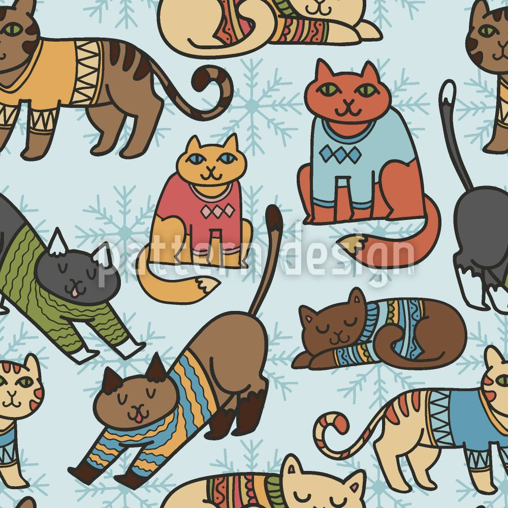 Design Wallpaper Winter Cats