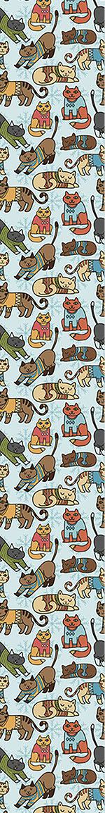Papier peint design Winter Cats