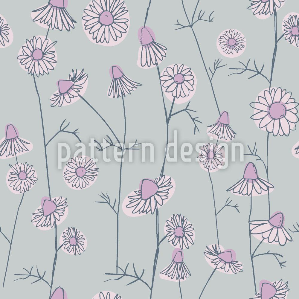 Design Wallpaper Chamomile At Dawn