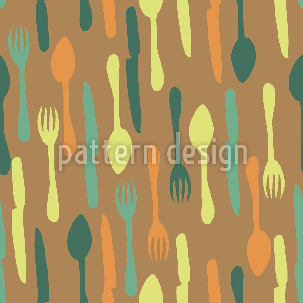 Papier peint design Retro Look Cutlery