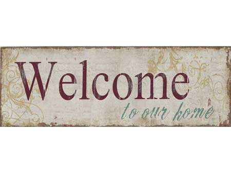 Vintage Metal Deco Sign WELCOME