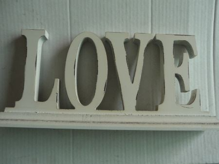 3D Wooden Words Vintage LOVE