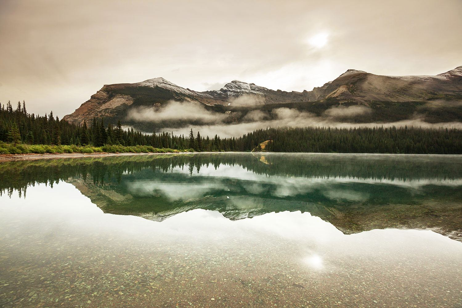 Photo Wallpaper Reflection In Glacier National Park